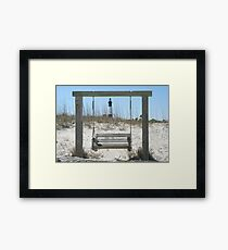 Swing by the sea  Framed Print