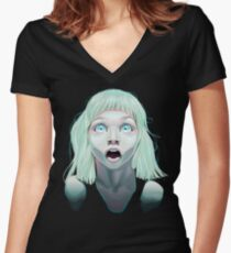 She IS Beautiful  Women's Fitted V-Neck T-Shirt