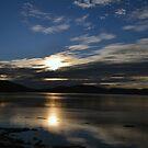 Sun rising over the Sea.......Lyme Dorset UK by lynn carter