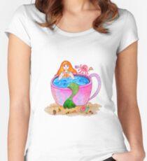 Happy mermaid Women's Fitted Scoop T-Shirt
