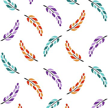 Cute Feathers Boho Pattern by xsylx