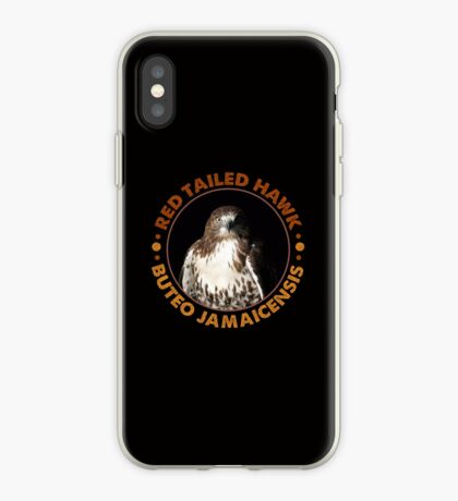 Beautiful Red Tailed Hawk Portrait for Falconers and Bird Watchers iPhone Case