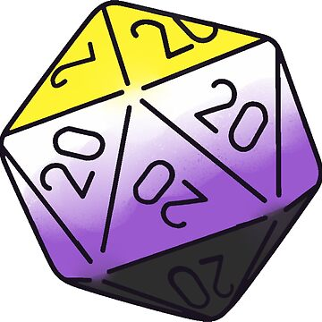 nonbinary d20 by annieloveg