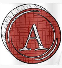 Alphabets - 3D Circle | YWZMNK 26 Poster