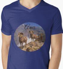Aries Zodiac Sign Men's V-Neck T-Shirt