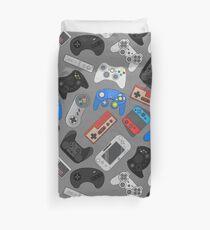 Videospiel-Controller-Hintergrund Gadgets nahtlose Muster Bettbezug