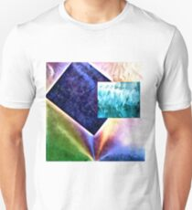 Shapes in Abstract Moving Into Pastel Colours Unisex T-Shirt