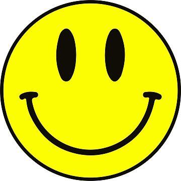 Smiley Face Cute Happy Funny Emoji Yellow by decentdesigns