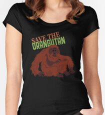 Save the Orangutan Fitted Scoop T-Shirt