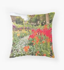 Tulips are better than one 11 - especially a whole garden of them Throw Pillow