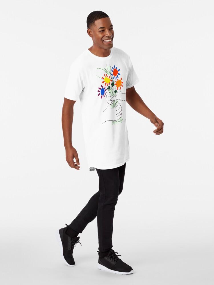 Alternative Ansicht von Pablo Picasso Blumenstrauß des Friedens 1958 (Blumenstrauß mit den Händen), T-Shirt, Artwork Longshirt