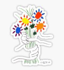 Pablo Picasso Blumenstrauß des Friedens 1958 (Blumenstrauß mit den Händen), T-Shirt, Artwork Sticker