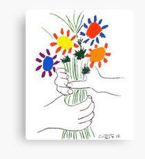 Pablo Picasso Blumenstrauß des Friedens 1958 (Blumenstrauß mit den Händen), T-Shirt, Artwork Leinwanddruck