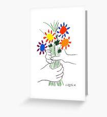 Pablo Picasso Blumenstrauß des Friedens 1958 (Blumenstrauß mit den Händen), T-Shirt, Artwork Grußkarte