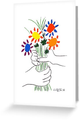 Pablo Picasso Bouquet Of Peace 1958 (Flowers Bouquet With Hands), T Shirt, Artwork by Art-O-Rama ®