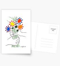 Pablo Picasso Bouquet Of Peace 1958 (Flowers Bouquet With Hands), T Shirt, Artwork Postcards