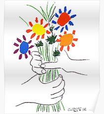 Pablo Picasso Bouquet De Paix 1958 (Bouquet De Fleurs Avec Des Mains), T Shirt, Création Poster