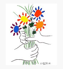 Pablo Picasso Bouquet Of Peace 1958 (Flowers Bouquet With Hands), T Shirt, Artwork Photographic Print