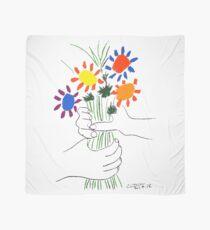 Pablo Picasso Bouquet Of Peace 1958 (Flowers Bouquet With Hands), T Shirt, Artwork Scarf