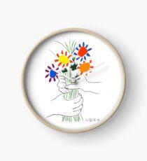 Pablo Picasso Blumenstrauß des Friedens 1958 (Blumenstrauß mit den Händen), T-Shirt, Artwork Uhr