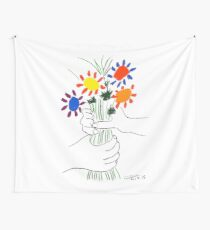 Pablo Picasso Bouquet Of Peace 1958 (Flowers Bouquet With Hands), T Shirt, Artwork Wall Tapestry