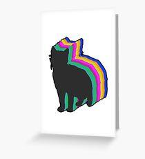 Cat retro pet Greeting Card