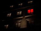 Upstairs, where the red light is on.... by Mojca Savicki