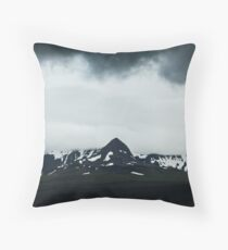 Moody Icelandic Landscape Throw Pillow