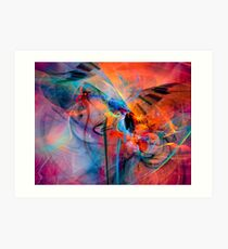 The Great Adventure- Colorful Digital Abstract Art  Art Print