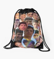 Ansel Elgort collage Drawstring Bag
