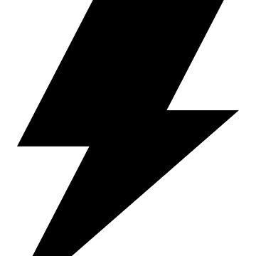 Lightning Bolt Cool Rock Logo by decentdesigns