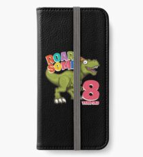 8th Birthday Funny Design - Roarsome 8 Year Old iPhone Wallet/Case/Skin