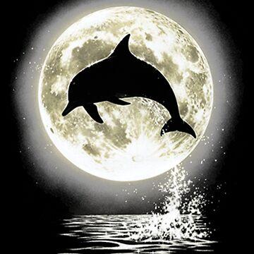 Moonlight Dolphin by kleynard