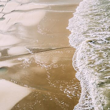 Wave On Beach High Angle by PatiDesigns