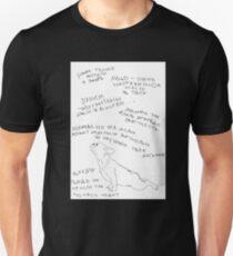 French Bulldog OM Funny Yoga T-Shirt Signed in Russian Unisex T-Shirt