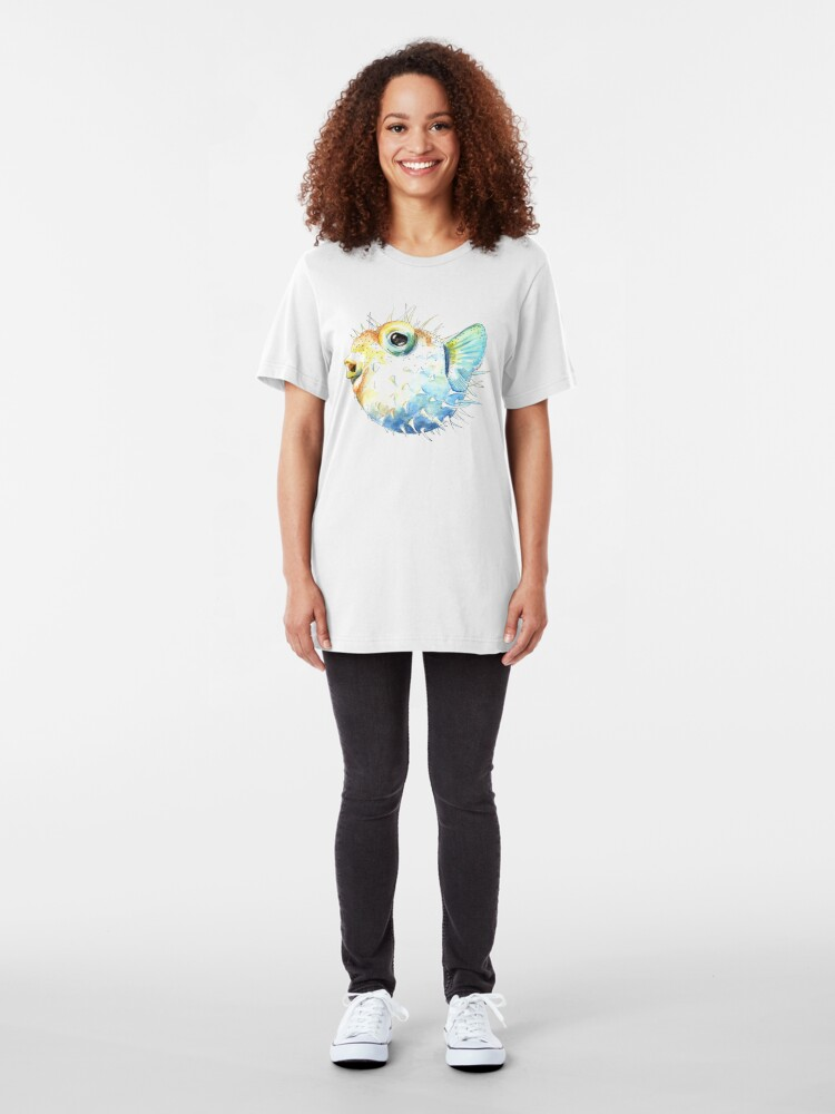 Alternate view of Pufferfish - Puffed Up Slim Fit T-Shirt