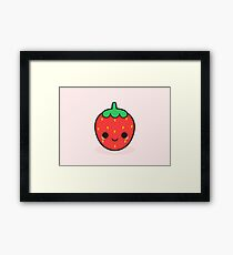 Cute strawberry Framed Print