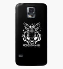 Memento Mori Cat Skull, Death Head Moth, & Snake, Latin Quote Case/Skin for Samsung Galaxy
