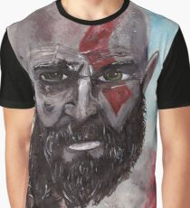 Old Man Painting Graphic T-Shirt