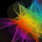 Abstract Colorful Lines Background  by CroDesign