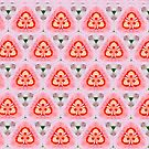 Candy floss triangle pattern by Beth Brightman