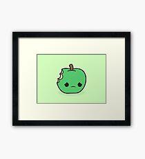 Cute sad apple Framed Print
