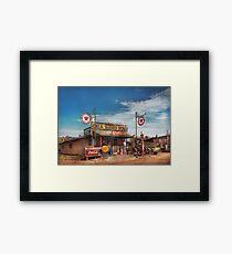 Gas Station - Oklahoma Service Station 1939 Framed Print