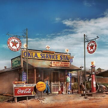 Gas Station - Oklahoma Service Station 1939 by mikesavad