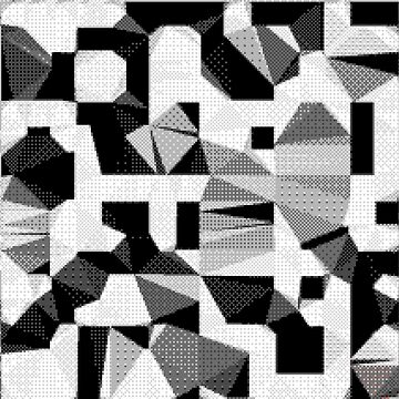 8bit black and white abstract by findingNull