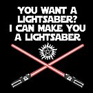 Supernatural Lucifer Quote - Lightsaber v2.0 by obsidiandream
