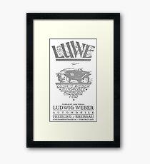 VIntage Car Poster Framed Print