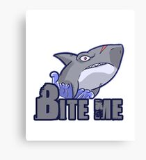 Bite Me Shark Canvas Print