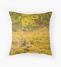 Wild Turkeys Throw Pillow