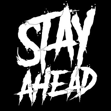 Stay Ahead wall paint by handcraftline